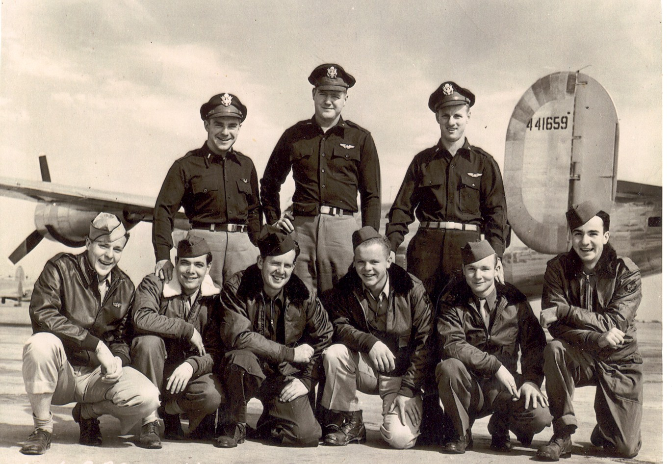 "Leonard J. Crandell crew of the ""Kaybar,"" 44th Bomb Group, 67th Bomb Squadron."