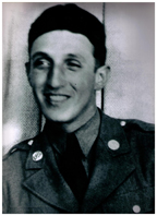 Sgt. John Sardiello, 119th Infantry Regiment, WWII. Photo courtesy of American Legion Post 1634