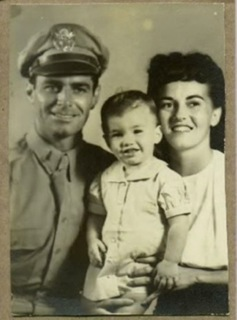 LT Julio Nuno, daughter Julie, wife Elva