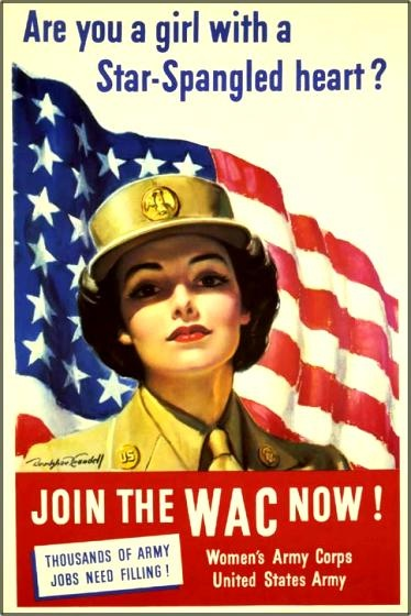 WAC Recruitment Poster-Star WWII