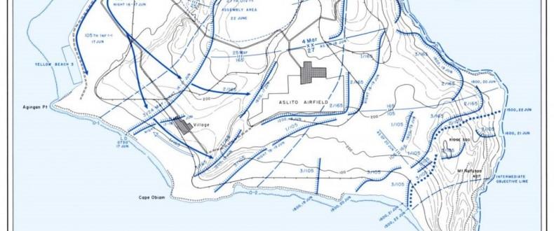 27th Infantry Divisin Deployment Map via Hyper War